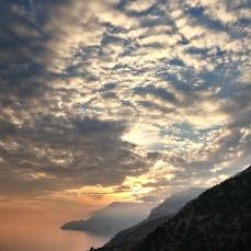 Ηλιοβασίλεμα στην Πλαγιά Ικαρίας.