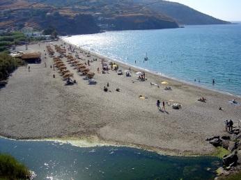 Η παραλία του Κάμπου.